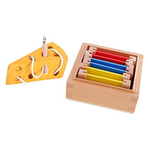 Perfk 子供 教育おもちゃ 木製カラーボックス チーズ迷路ゲーム おもちゃ