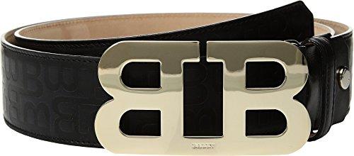Bally  Men's Mirror B Adjustable Leather Belt Black 110 cm (44 in.) Bally Leather Belt