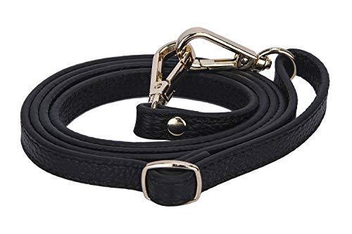 VanEnjoy Full Grain Leather Adjustable Replacement Crossbody Strap, 26-51 inch Long (Width 0.47inch,Black)