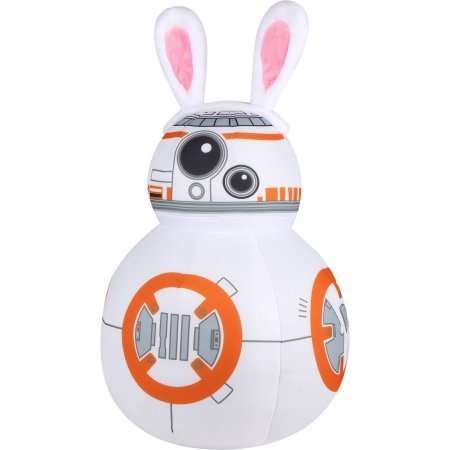 26 Inch Star Wars BB-8 Dressed as Easter Bunny Plush Greeter (Bunnies Wars Star)