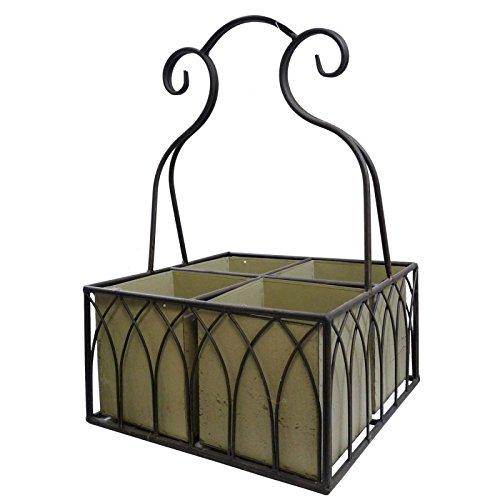 Cesta puerta 4 cestas extraíbles de mesa o cesto 4 caches Pots ...