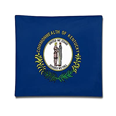 Jinyimingpi Kentucky State Flag Custom Zippered Rectangle Pillow Cases Pillow Cover 18X18 Inches (Two Sides)