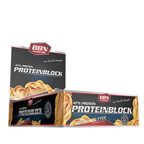 5 x BBN Hardcore Protein Block, 15 Riegel je 90g , Macadamia Nuss (5er Pack)