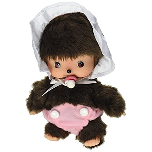 Sekiguchi Monchhichi Bebichhichi Baby Girl in Bonnet Style Plush