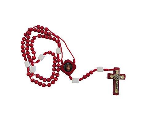 Wooden Precious Blood of Christ Rosary Rosario De La Preciosa Sangre De Cristo (Rosario De La Preciosa Sangre De Cristo)