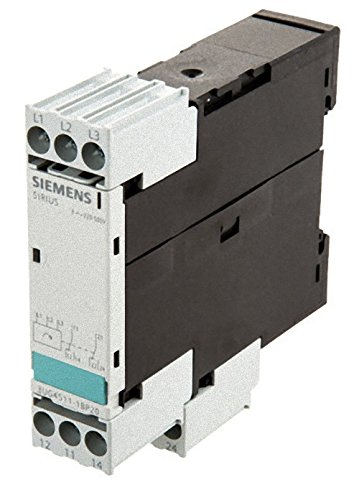 (Siemens 3UG4511-1BP20 Monitoring Relay, Three Phase Voltage, Insulation Monitoring, 22.5mm Width, Screw Terminal, 2 CO Contacts, Delay Time, 420-690 Line Supply Voltage)