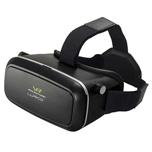 LURICO 2016 New Version 3D VR Virtual Reality Headset 3D VR Glasses , Suitable for Google, iPhone, Samsung , LG, Huawei, HTC, Moto 4.5-6.0 inch screen smartphone(Black)