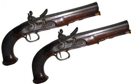 DUELING PISTOLS GLOSSY POSTER PICTURE PHOTO vintage musket west gun rifle (Musket Pistol)