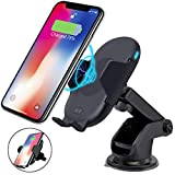Amstt Wireless Charger Car Mount, 10W Infrared Sensor Qi Fast Wireless Car Charger Auto-Clamping Air Vent Phone Holder Compatible with iPhone XR XS Max X 8 8 Plus Samsung S9/Note8 Qi-Enabled Devices