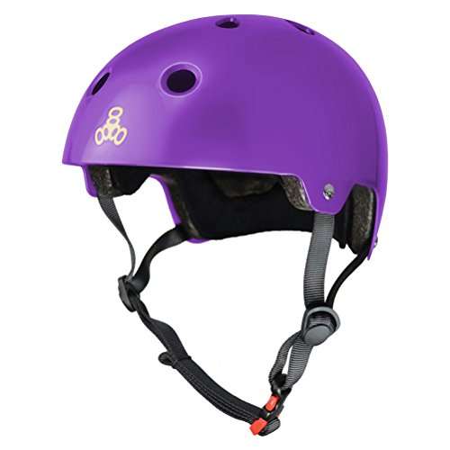 Purple Gloss ciclismo Casco 8 Triple da Brainsaver q47aWwR