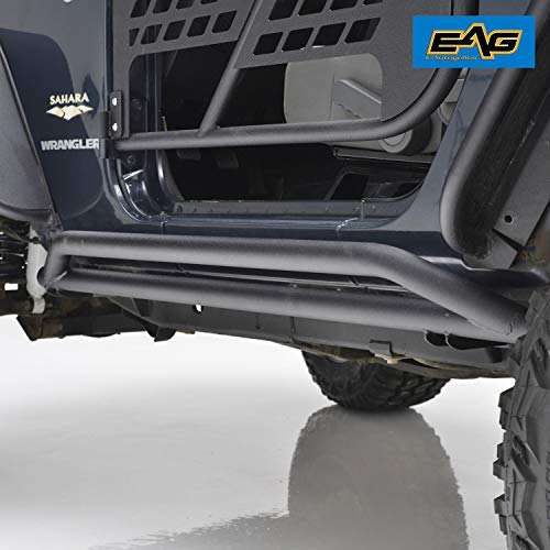 EAG Side Armor Rock Guards Fit for 07-18 Jeep Wrangler JK 2 ()