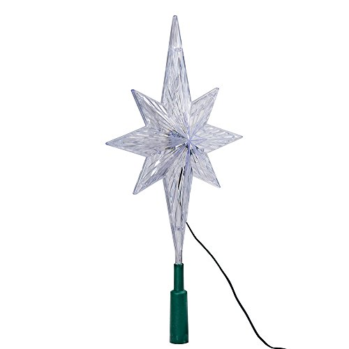 Kurt Adler 11.25-Inch UL Polar Star Treetop with LED Color-Changing Light