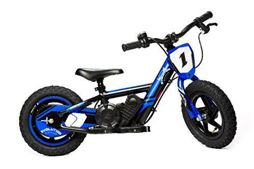 Electric Balance Bicycle Bike for Kids, Motorcycle for Kids Blue EVO12 Inch