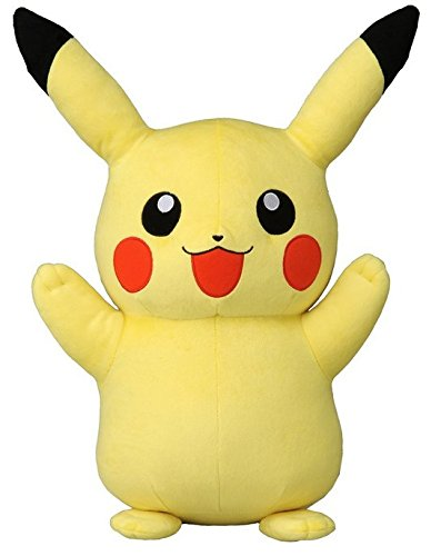 "Pokemon Best Wishes Black And White Plush Doll Takaratomy - Giant 16"" Pikachu"