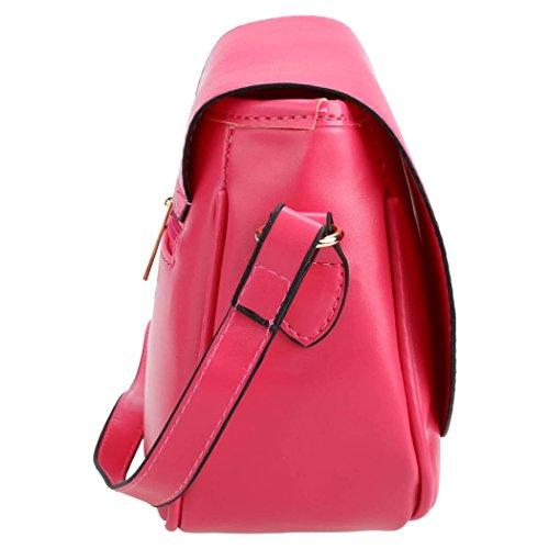 Bolso - bandolera de cuero sintético All4you Cruz Mini bolso en Color caramelo para Women(Red) del Mensajero Rojo