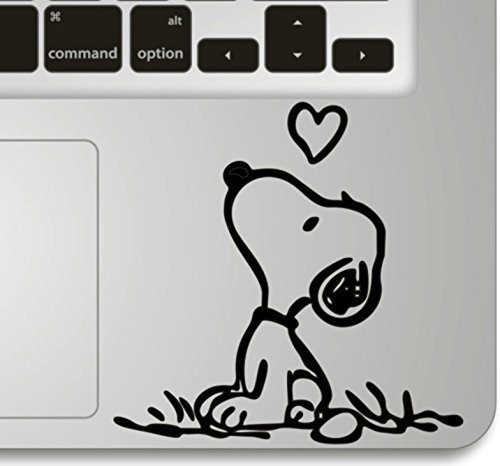 Vati Leaves Removable Snoopy Love Humor Handmade Partial Art Skin Cool Design Vinyl Decal Sticker for Trackpad Keypad Of Apple Macbook Pro Air Mac Lap…