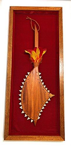 Koa Shadow box w/ Sledge Hammer 42''X 18'' - Red Velvet - Made In Hawaii | #koasb11 by TikiMaster
