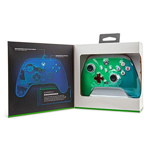 PowerA Enhanced Wired Controller for Xbox – Seafoam Fade, Gamepad, Wired Video Game Controller, Gaming Controller, Xbox Series X|S, Xbox One – Xbox Series X (Only at Amazon) 41cVQR3eEfL
