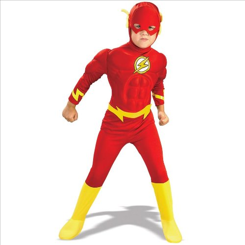 Deluxe Muscle Chest Flash Costume - (Child Flash Costume)