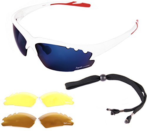 Breeze Lightweight TR90 White Sports Sunglasses with Inte...