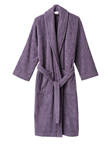 TowelSelections Women's Robe, Turkish Cotton Terry Shawl Bathrobe Small/Medium Dusk