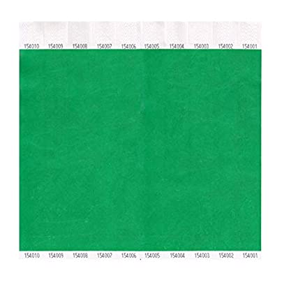 Tyvek Wristbands Plain Green 100 Pack Estimated Price £5.99 -
