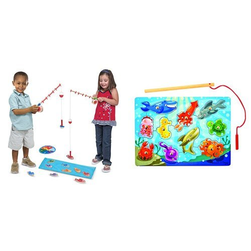 Melissa & Doug Catch & Count, Magnetic Fishing Games Bundle