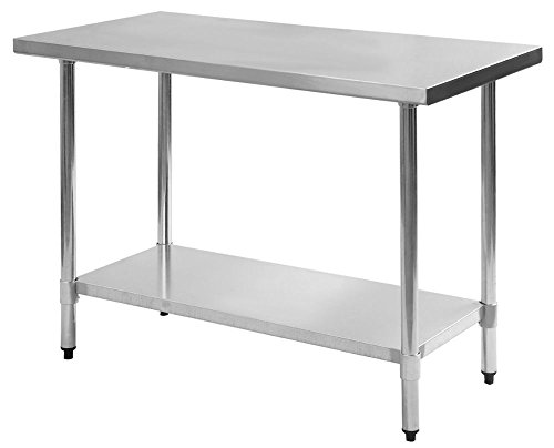 "24"" x 48"" Stainless Steel Work Prep Table Commercial Kitchen Restaurant New from Unknown"