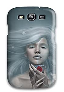 Tpu Case Cover For Galaxy S3 Strong Protect Case - White Haired Beauty Fantasy Women Abstract Fantasy Design