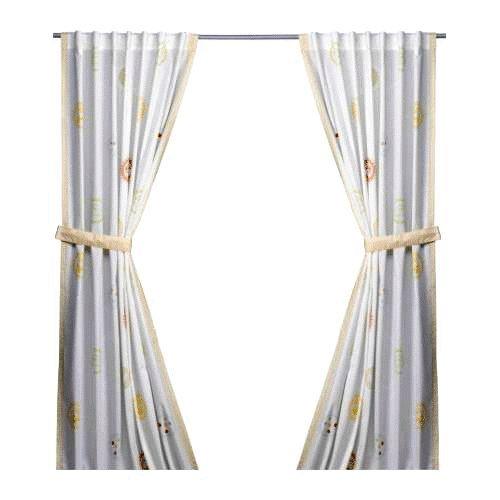 Children Window Treatments Kamrater Curtain White Jungle Animal