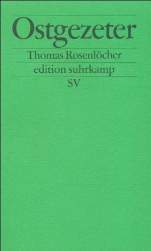 Ostgezeter  Beiträge Zur Schimpfkultur  Edition Suhrkamp