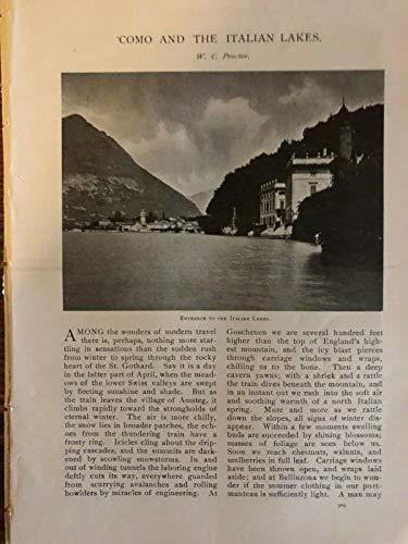 1902 Como and the Italian Lakes Lake Maggiore Bellaggio illustrated