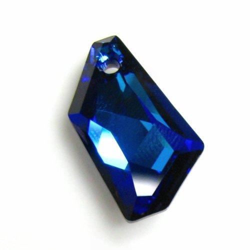 1 pc Swarovsk Crystal 6670 Polygon Charm Pendant Bermuda Blue 24mm / Findings / Crystallized - Crystal Polygon Swarovski