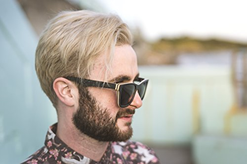 Wood Sunglasses made from Maple -100% polarized lenses in a wayfarer that floats Black Maple