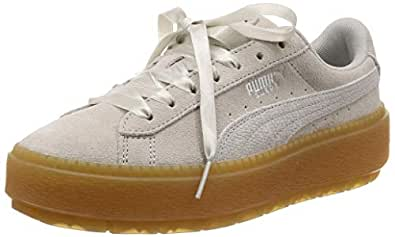 PUMA Women's Platform Trace Emboss WN's Sneakers, Gray Violet-puma White, 7 US