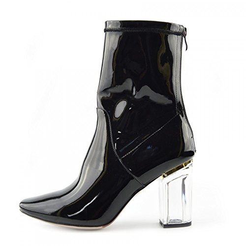 Heel Party Femmes Shoes Block Clear Bottines Fashion Perspex High XWgZHqS