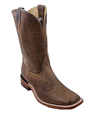 Nocona 7MDACU001 Mens Abilene Christian University Brown Cowhide Branded College Boots 70%OFF