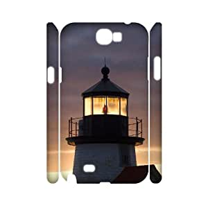 KSDHPNECASE case Of Lighthouse Customized Hard Case For Samsung Galaxy Note 2 N7100