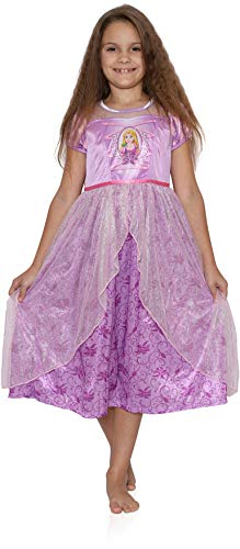 Disney Character Sleepwear Girls Girls' Princess Fantasy Gown, 4 Purple