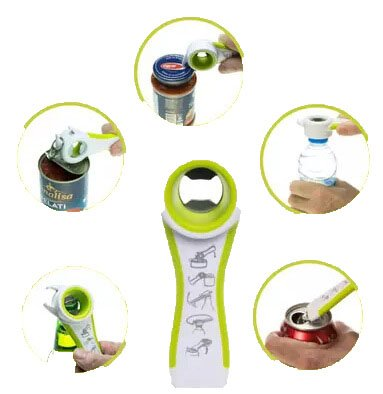 Jar & Bottle Opener Can Opener Multi Function 5 In 1 MZlots