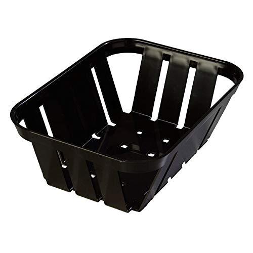 TableTop King 4403003 Stackable Black Munchie Basket 7 3/8'' x 5 3/8'' - 24/Case