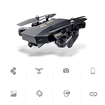 Rabing RC Drone Foldable Flight Path FPV VR Wifi RC Quadcopter 2.4GHz 6-Axis Gyro Remote Control Drone with 720P HD 2MP Camera Drone from Rabing