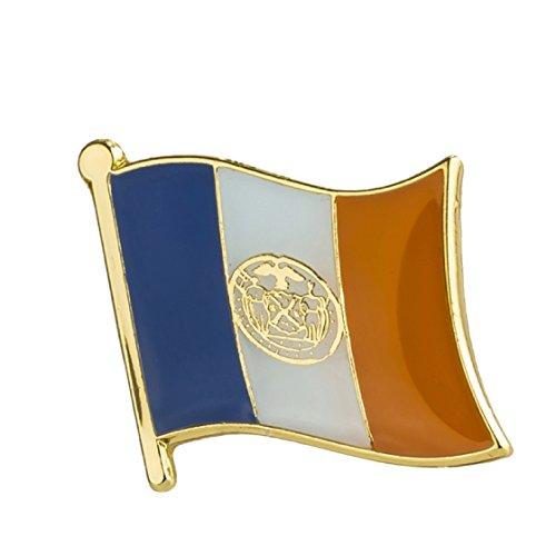 (New York City Flag Lapel Pin 19 x 16mm Hat Tie Tack Badge)