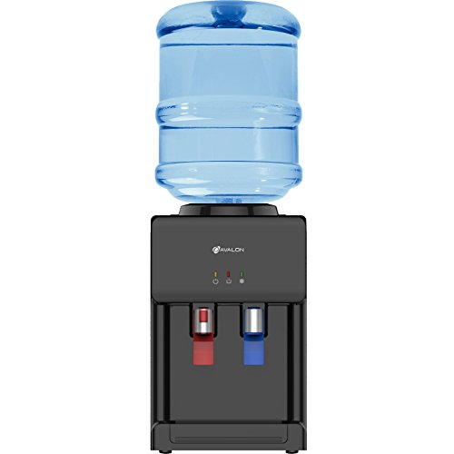 Avalon Premium Hot/Cold Top Loading Countertop Water Cooler Dispenser With Child Safety Lock. UL/Energy Star Approved- Black by Avalon (Image #1)
