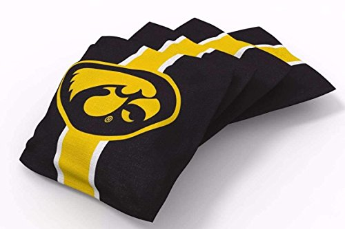 PROLINE 6x6 NCAA College Iowa Hawkeyes Cornhole Bean Bags - Stripe Design (A) - Iowa Hawkeyes Ncaa Bean Bag