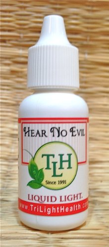 Hear No Evil (1/2 oz Bottle) - Ear Drops for Ear Infections, Healing and Pain Relief.