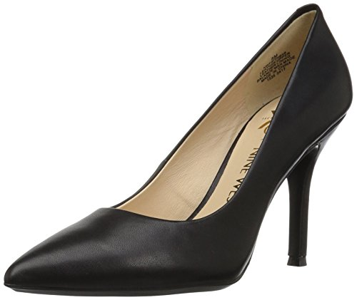 (Nine West Women's FIFTH9X Fifth Pointy Toe Pumps,   Black Calf Leather - 8.5 B(M) US)