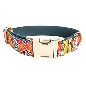Legendog Print Dog Collar Fashionable Alloy Buckle Dog Collar Adjustable Pet Collar for Dog Cat Size M Click on image for further info.