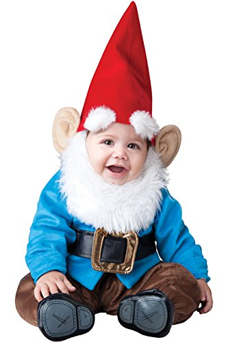 InCharacter Lil' Garden Gnome Infant Costume-Medium (12-18) Blue/Red