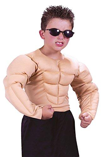 GTH Boy's Muscle Shirt Kids Child Fancy Dress Party Halloween Costume, L -